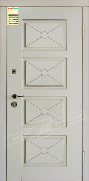 Двері вхідні внутр,Сіті 112050*860мм,модельПрованс 6 Декор Макіато супермат02-0,35 Терм,праві.