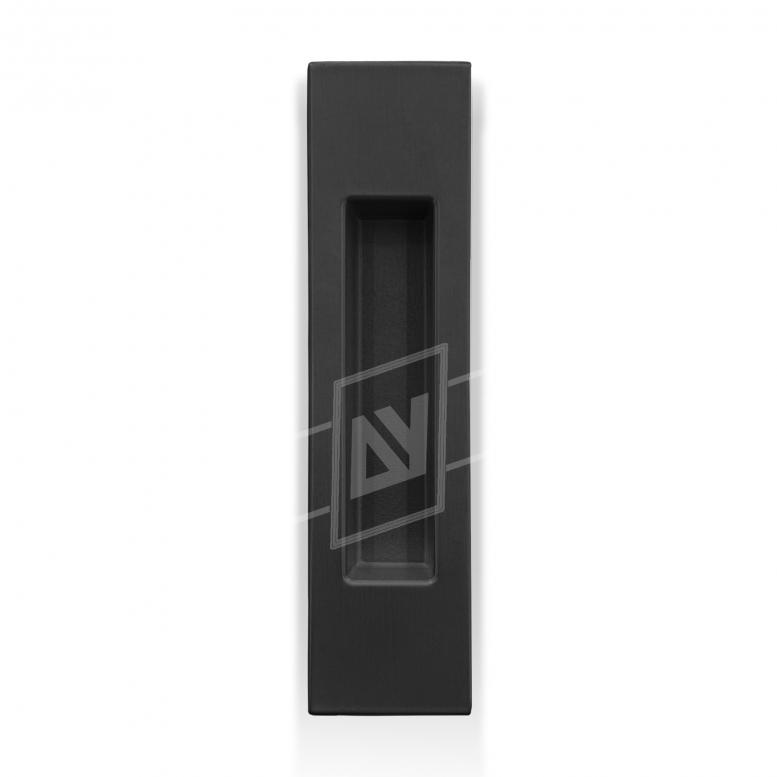 """Ручка для раздвижных дверей """"MVM"""" прямоугольная, [чёрный], [150 x 37]"""