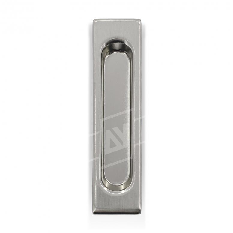 """Ручка для раздвижных дверей """"USK"""" прямоугольная, [никель], [150 x 35]"""