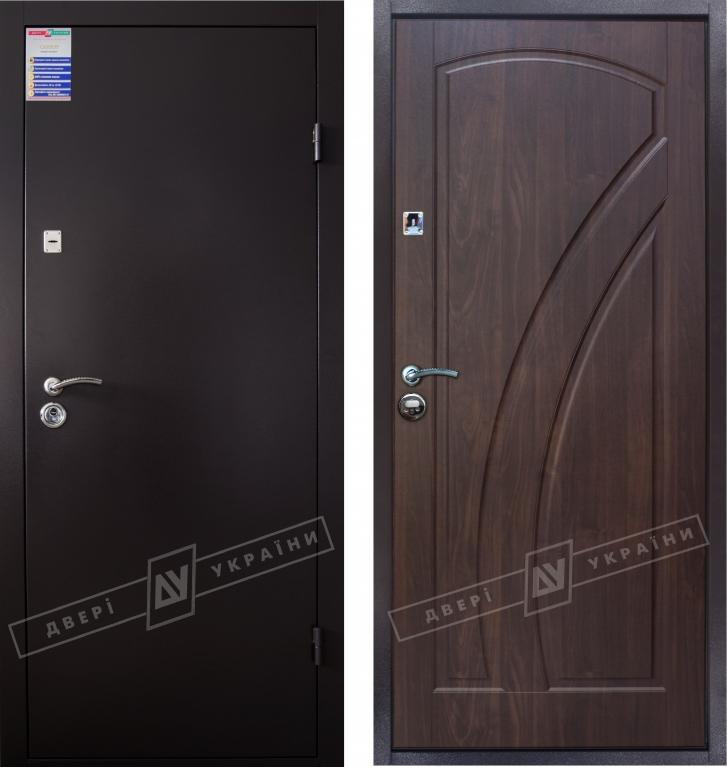 Двери входные САЛЮТ 2 металл / МДФ КЛИО тёмный орех