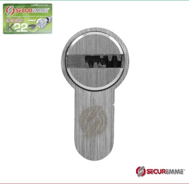 "Цилиндр ""SECUREMME"" К22, (50/40Т), [ключ/тумблер], [сатин]"