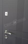 Двери входные серии СИТИ / Комплектация №1 [RICCARDI] / ЛЕКС / Элегантный серый софттач HRB 9377UD B10-0,35