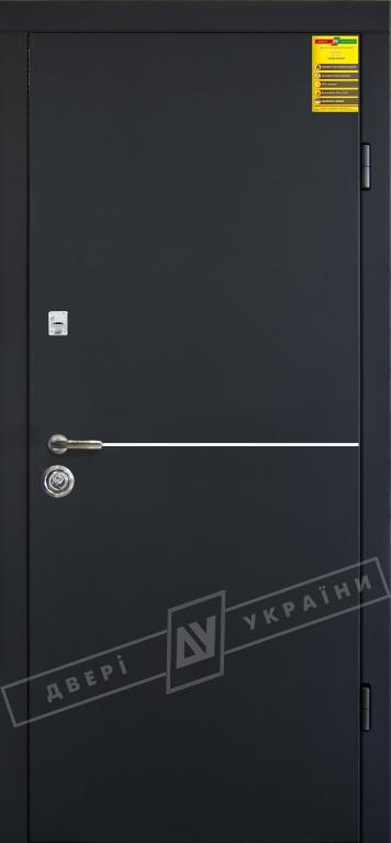Двери входные серии СИТИ / Комплектация №1 [RICCARDI] / МОНАКО / Чёрный софттач RB5013UD-B10-0,35