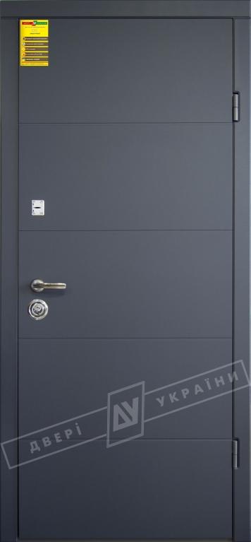Двери входные серии СИТИ / Комплектация №2 [KALE] / ТУРИН / Антрацит ANT01-105C