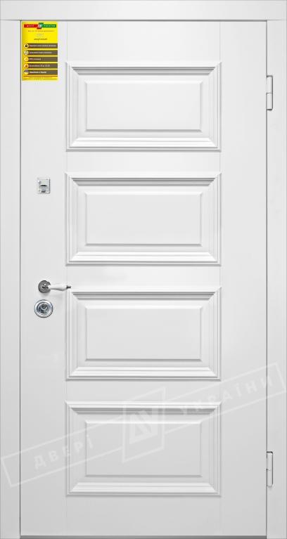 Двери входные серии СИТИ / Комплектация №1 [RICCARDI] / ВЕРСАЛЬ 6 / Белый супермат WHITE_02