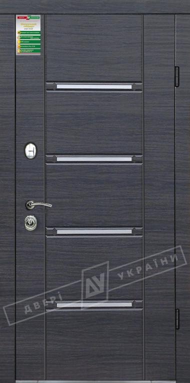 """Двері вхідні внутрішні""""Білоруський стандарт 2/1""""2040*880мм,""""Стиль"""" венге сірий горизонт 288Т,ліві"""