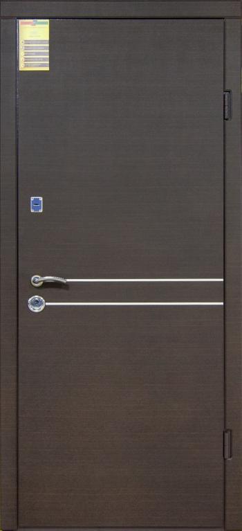 """Двері вхідні внутрішні """"Сіті 1/1""""2050*860мм,""""Токіо"""" венге горизонт темне,праві"""