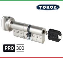 """Цилиндр """"TOKOZ"""" PRO 300 100mm (40*60T) [ ключ / тумблер ]"""
