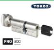 """Цилиндр """"TOKOZ"""" PRO 300 90mm (45*45T) [ ключ / тумблер ]"""