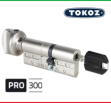 """Цилиндр """"TOKOZ"""" PRO 300 105mm (45*60T) [ ключ / тумблер ]"""