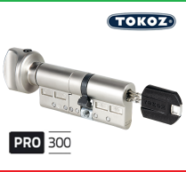 """Цилиндр """"TOKOZ"""" PRO 300 90mm (60*30T) [ ключ / тумблер ]"""