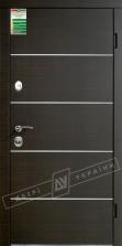 Двери входные серии БС / Комплектация №1 [RICCARDI] / ТУРИН Декор / Венге горизонт тёмное HORI-DARK