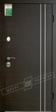 Двери входные серии БС / Комплектация №1 [RICCARDI] / ВЕНА декор / Венге горизонт тёмное HORI-DARK