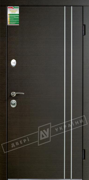 """Двері вхідні внутрішні""""БС 2/1""""2040*880мм,""""Вєна декор"""" венге южне МВР1998-10,праві"""