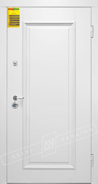 Двери входные серии СИТИ / Комплектация №1 [RICCARDI] / ВЕРСАЛЬ 1 / Белый супермат WHITE_02