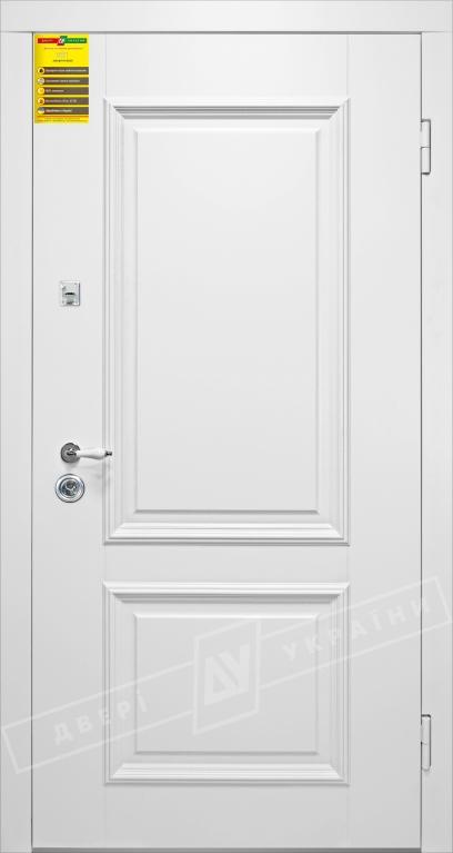 Двери входные серии СИТИ / Комплектация №1 [RICCARDI] / ВЕРСАЛЬ 2 / Белый супермат WHITE_02