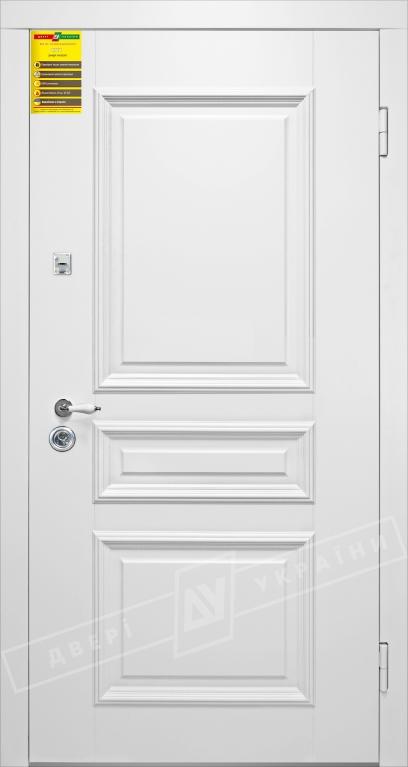 Двери входные серии СИТИ / Комплектация №1 [RICCARDI] / ВЕРСАЛЬ 3 / Белый супермат WHITE_02