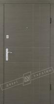 """Двери входные серии """"БРАВО 6"""" / Комплектация №1 [BARRERA] / Модель: ГРАФИКА 2 / Эко каштан"""