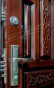 """Двери входные ТМ """"Двери Оптом"""" [ TP-C 150 + ] / АВТОЛАК / для НАРУЖНОГО ПРИМЕНЕНИЯ / 2050*1200 мм / утеплённые МИНЕРАЛЬНОЙ ВАТОЙ"""